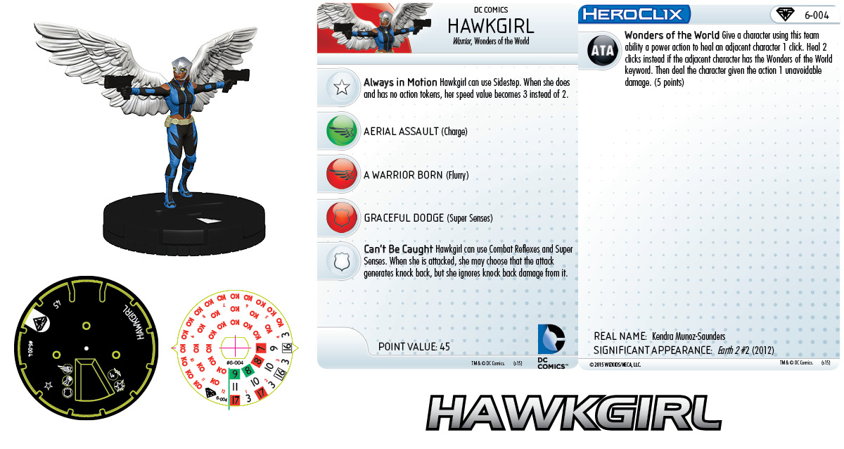 DC HeroClix: Superman/Wonder Woman- Earth 2 Fast Forces Pack- Hawkgirl