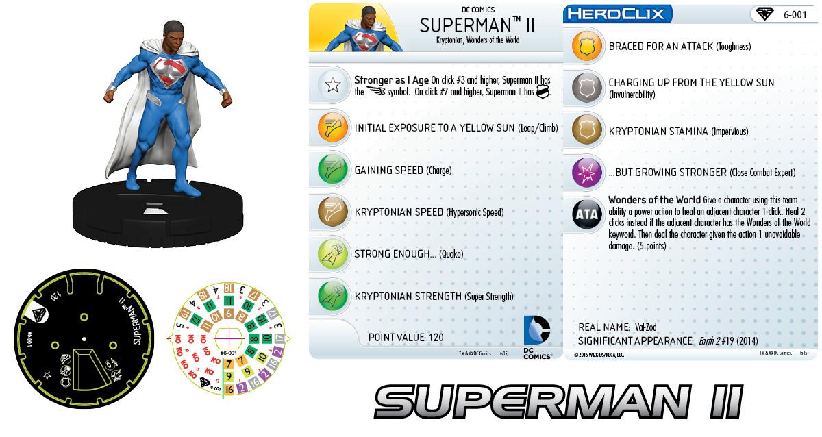 DC HeroClix: Superman/Wonder Woman- Earth 2 Fast Forces Pack- Superman II