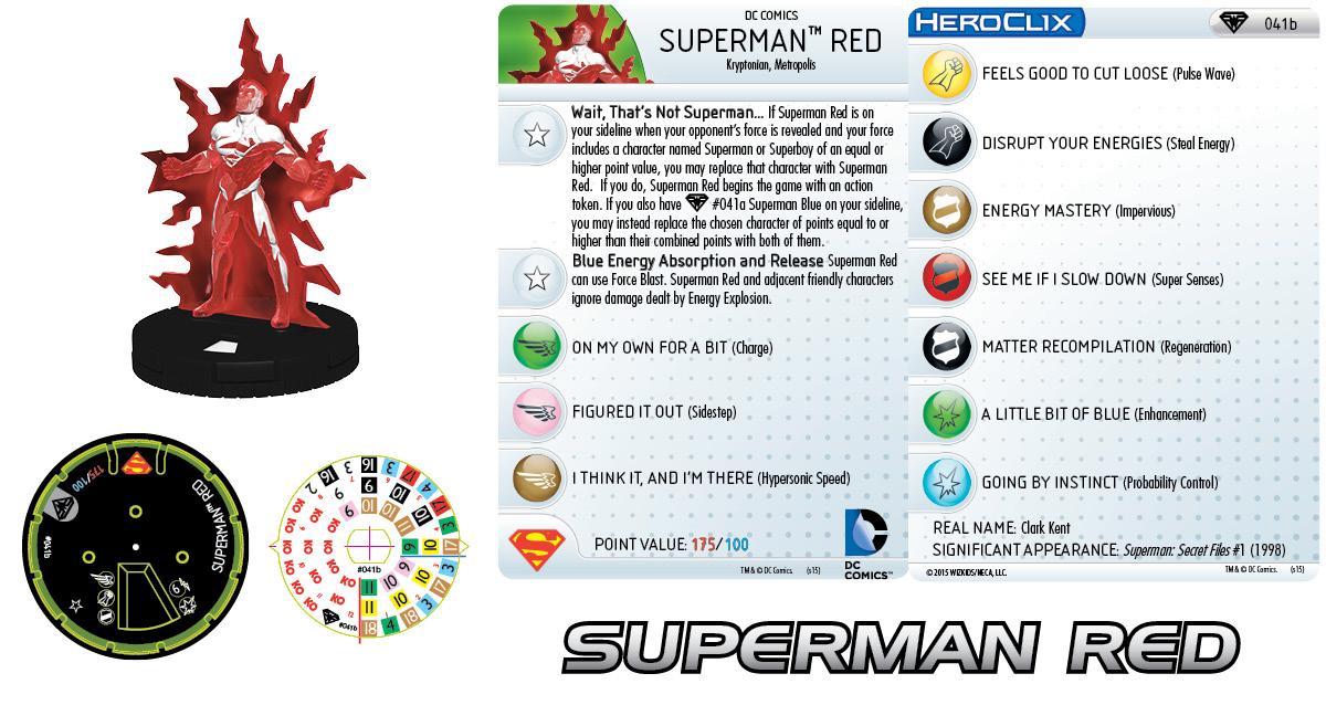 DC HeroClix: Superman/Wonder Woman - Superman Red