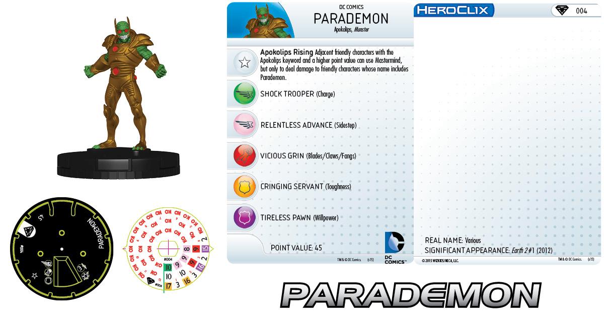 DC HeroClix: Superman/Wonder Woman- Parademon