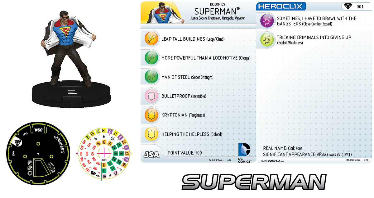 DC HeroClix: Superman/Wonder Woman- Superman 001