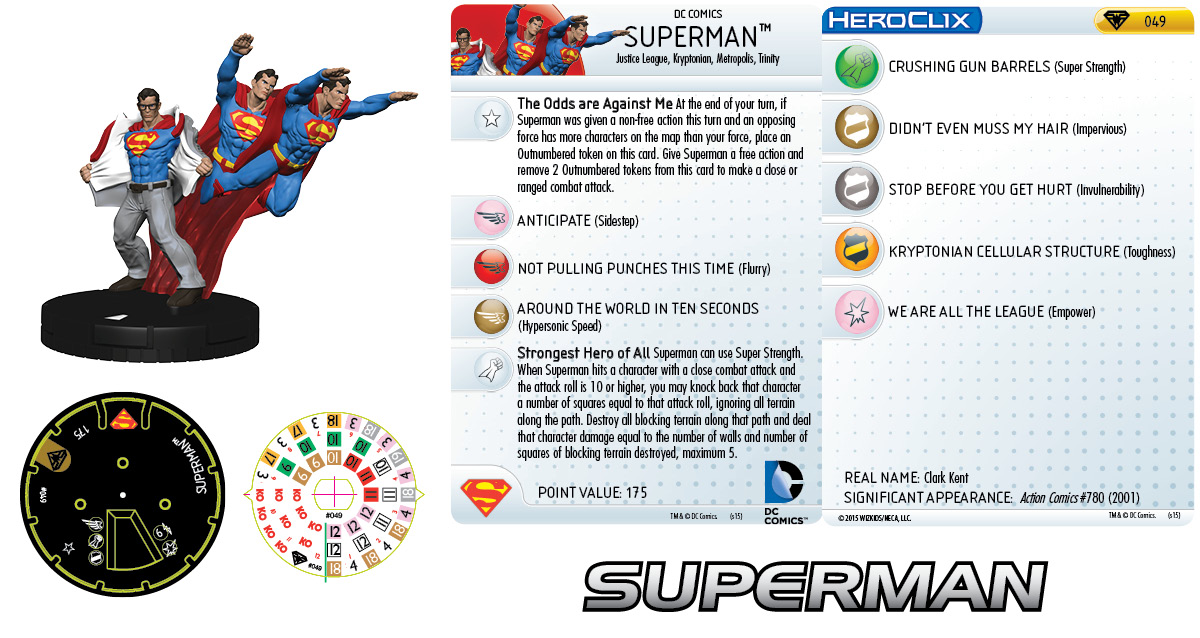 DC HeroClix: Superman/Wonder Woman- Superman 049