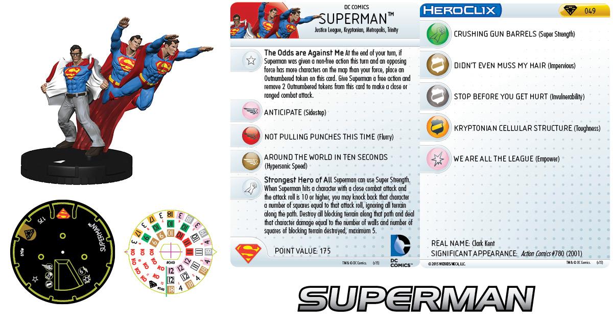 DC HeroClix: Superman/Wonder Woman- Superman 049