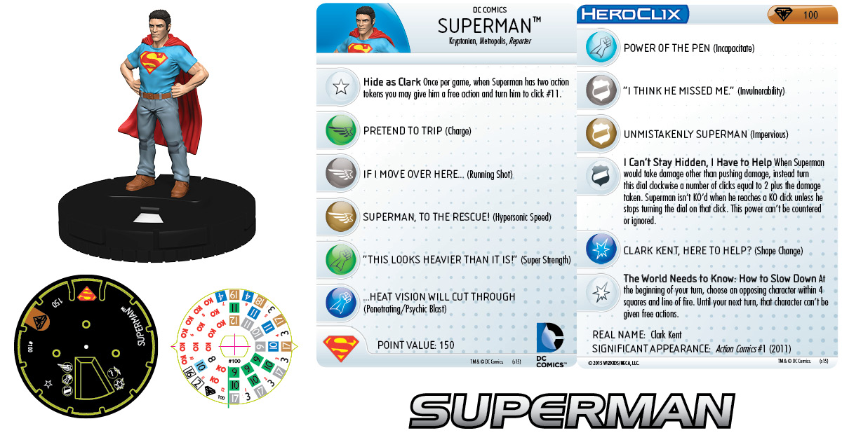 DC HeroClix: Superman/Wonder Woman- Superman 100