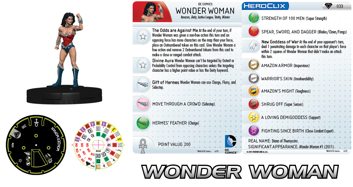 DC Comics HeroClix: Superman/Wonder Woman - Wonder Woman 033