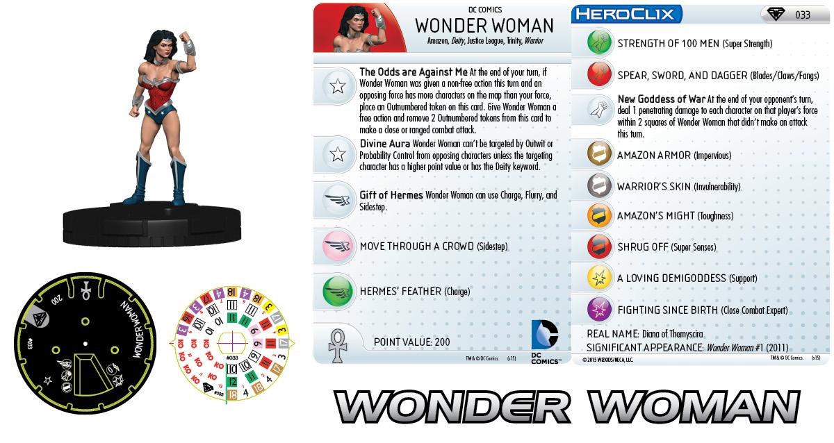 DC Comics HeroClix: Superman/Wonder Woman - Wonder Woman 033