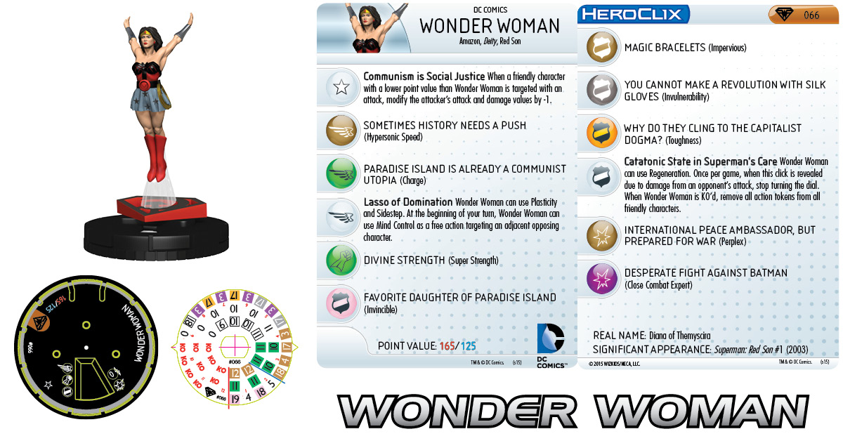DC Comics HeroClix: Superman/Wonder Woman - Wonder Woman 066