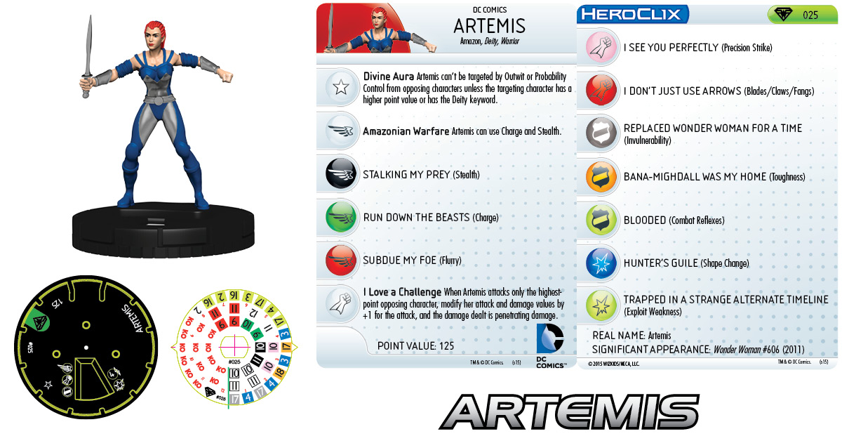 DC HeroClix: Superman/Wonder Woman- Artemis