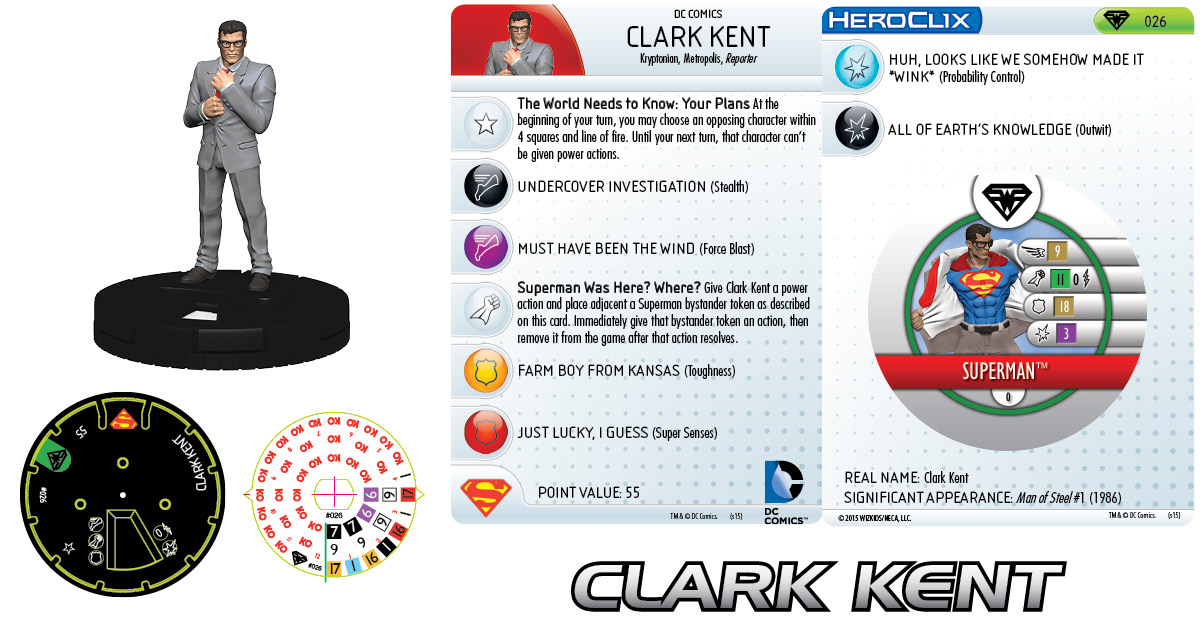 DC HeroClix: Metropolis Team - Clark Kent