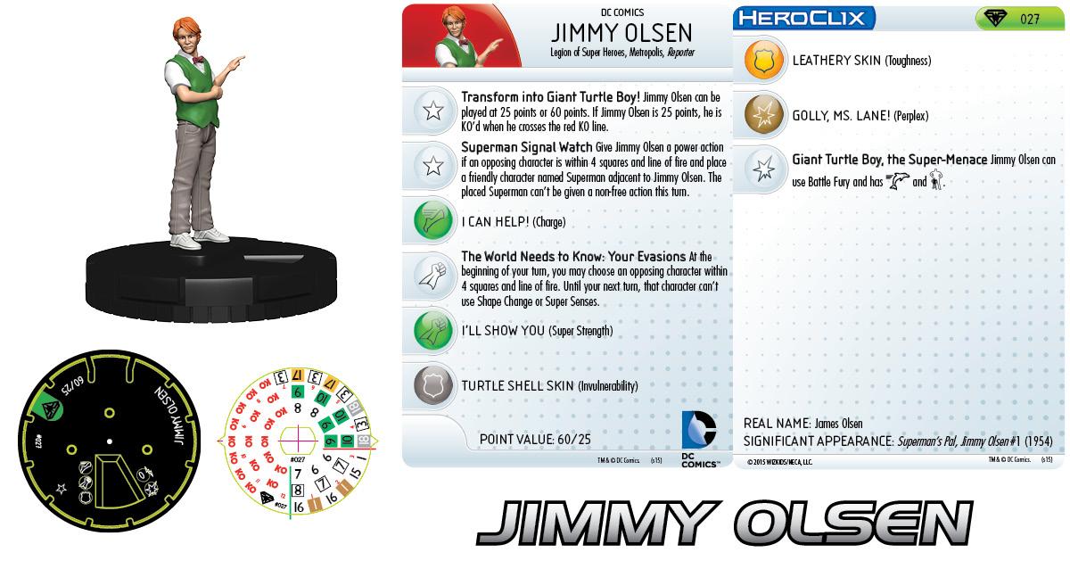 DC HeroClix: Metropolis Team - Jimmy Olsen