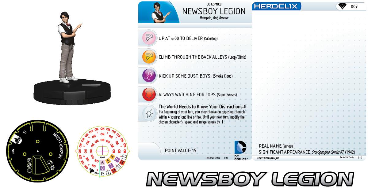 DC HeroClix: Metropolis Team - Newsboy Legion