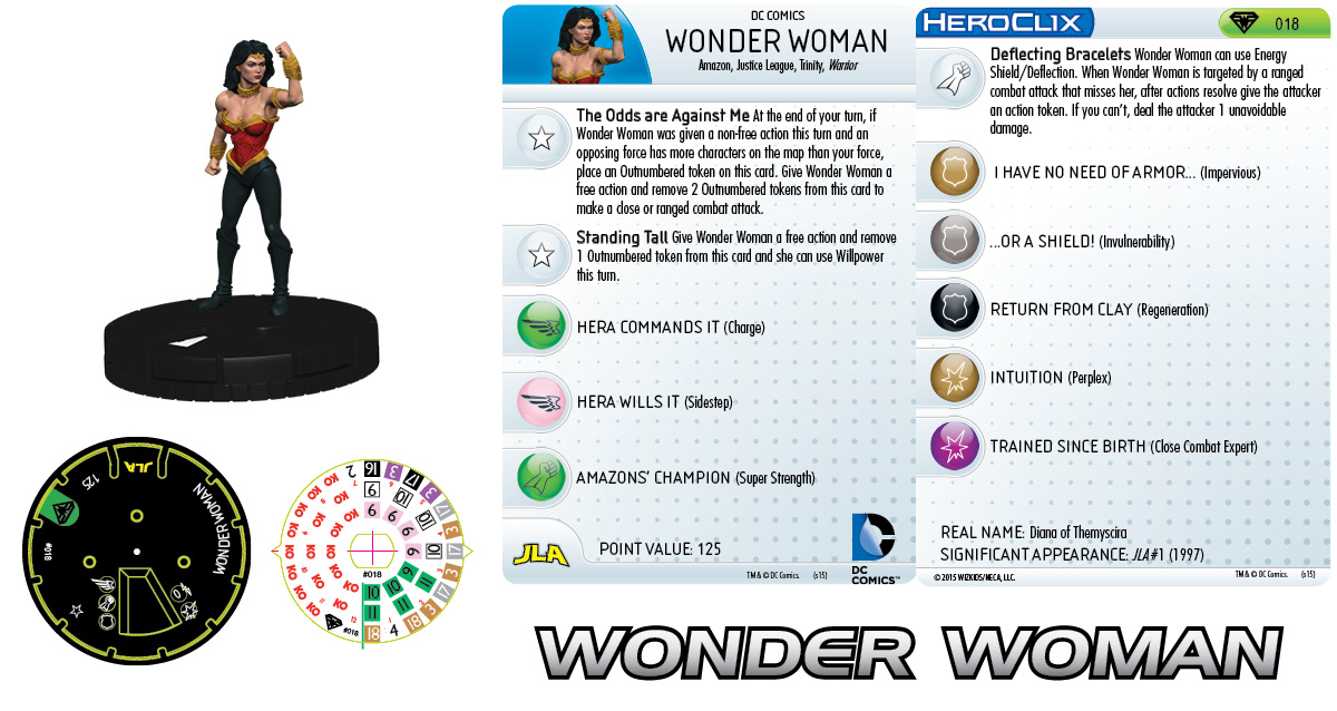 DC HeroClix: Superman/Wonder Woman- Wonder Woman