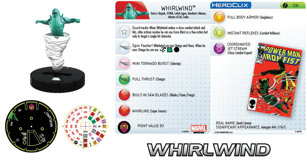 Marvel HeroClix: Avengers Assemble- Whirlwind