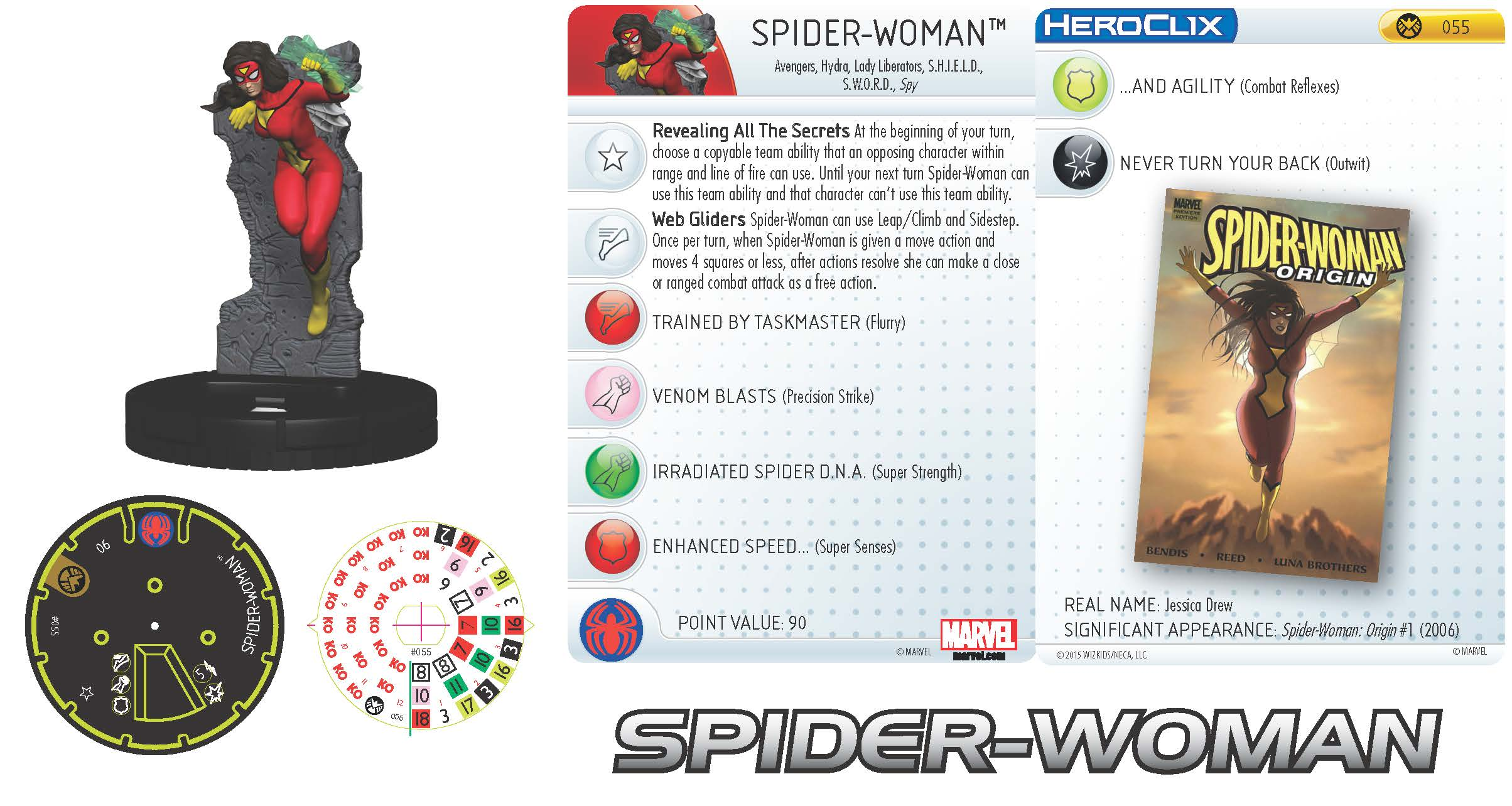 Marvel HeroClix: Nick Fury: Agent of S.H.I.E.L.D.- Spider-Woman
