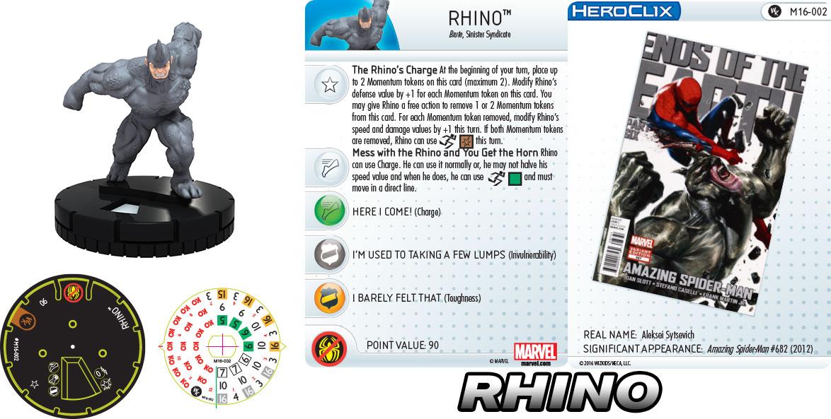 Marvel HeroClix: Sinister Six- Rhino