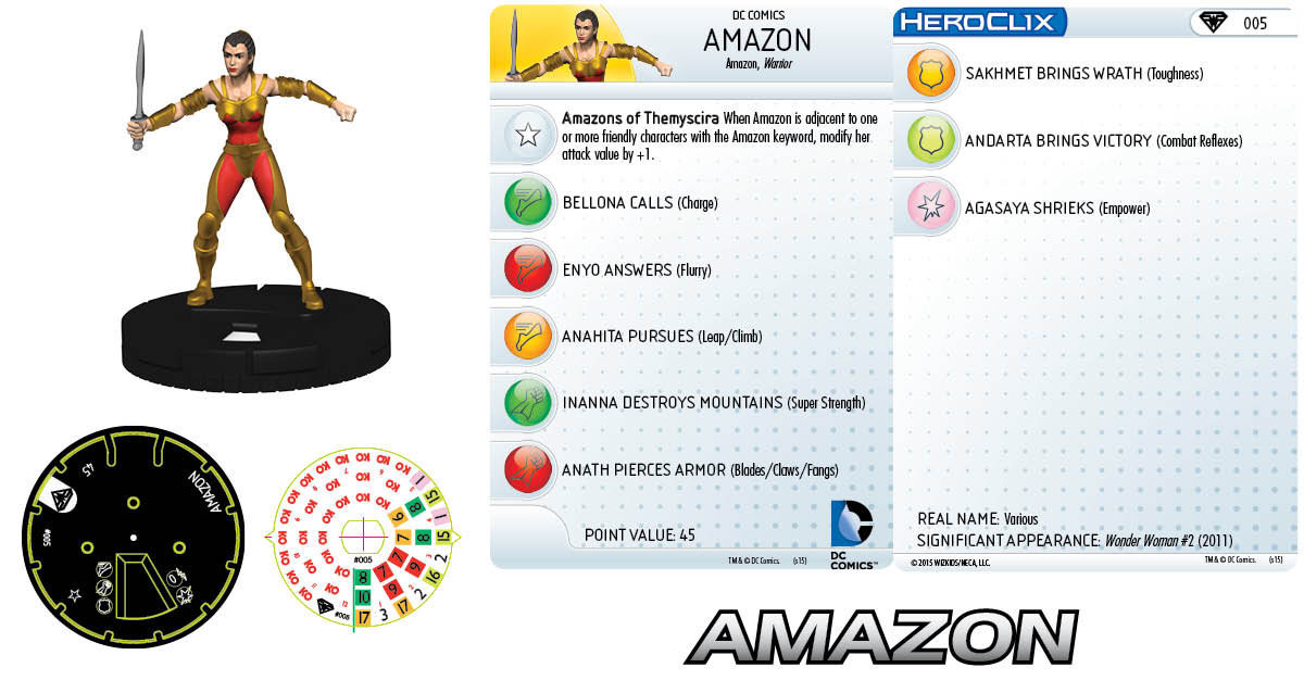 DC HeroClix: Superman/Wonder Woman- Amazon
