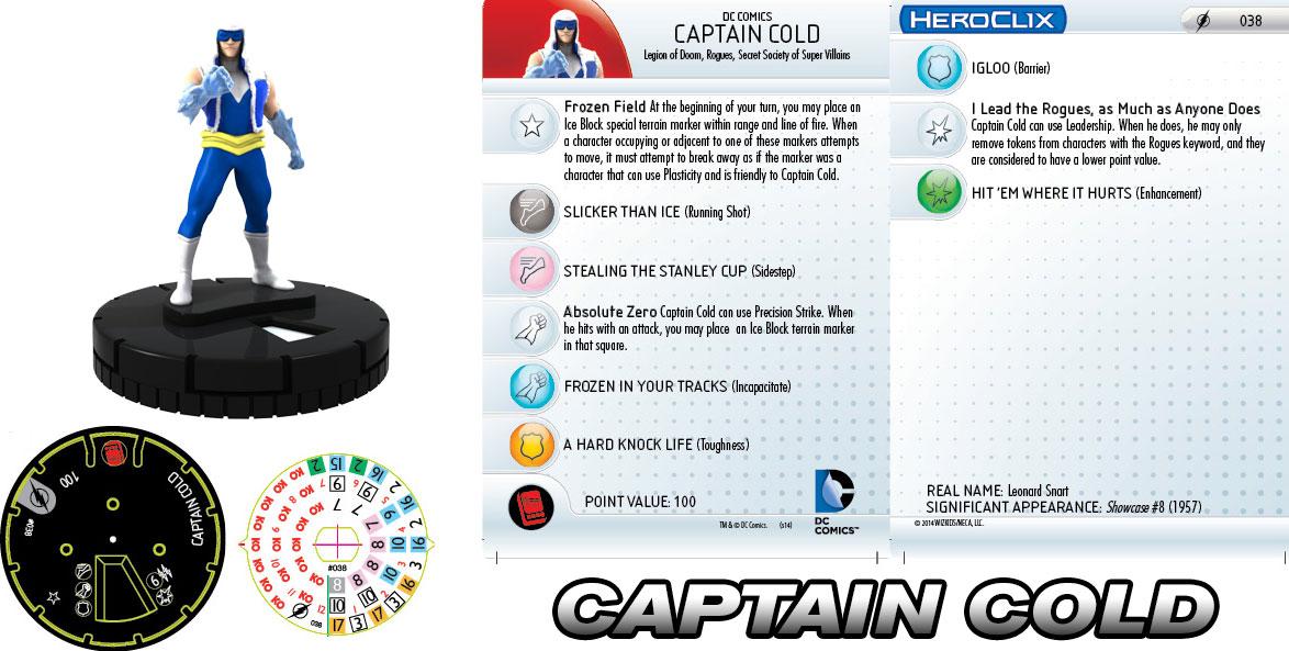 DC HeroClix: Killer Cold- Captain Cold