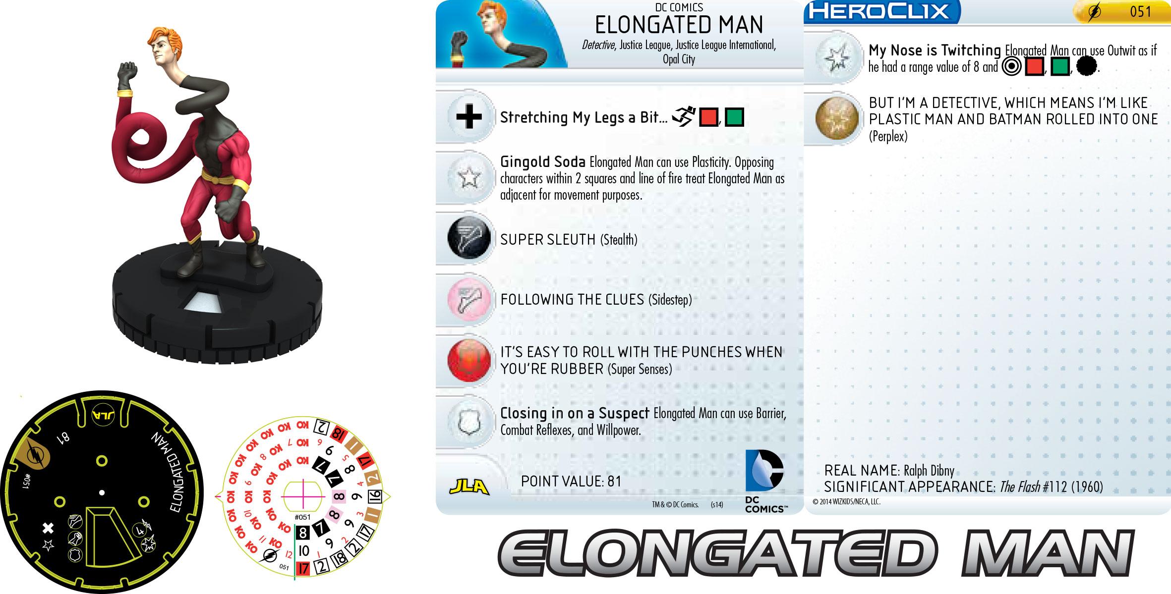 DC Comics HeroClix: Elongated Man