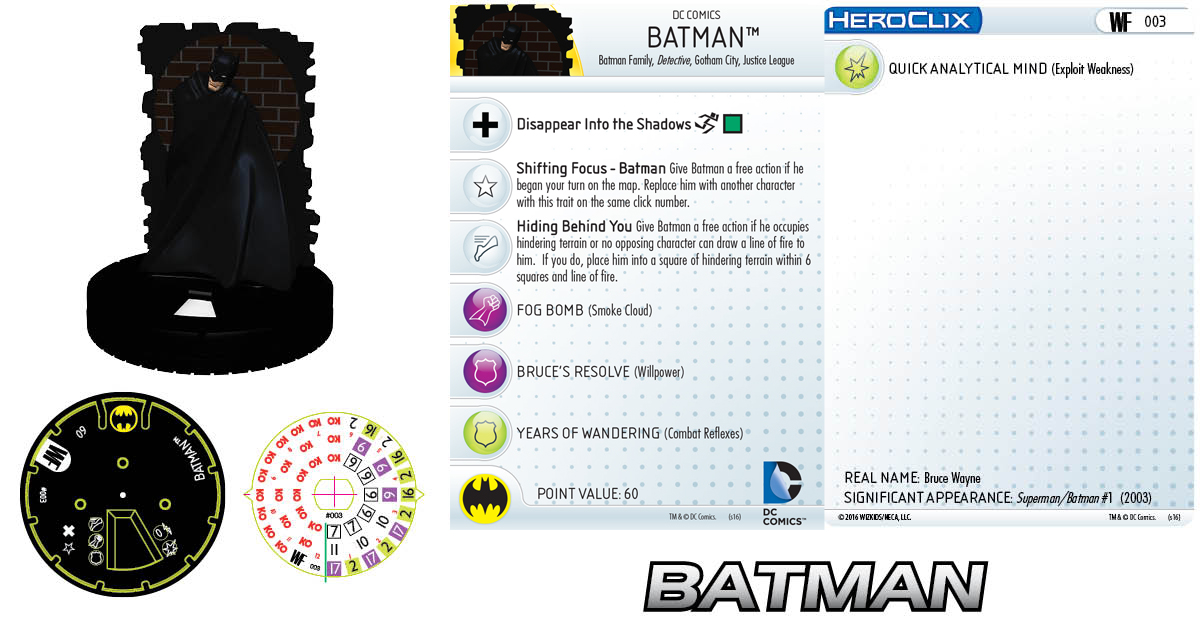 DC HeroClix: World's Finest- Batman 003 Clix It Up