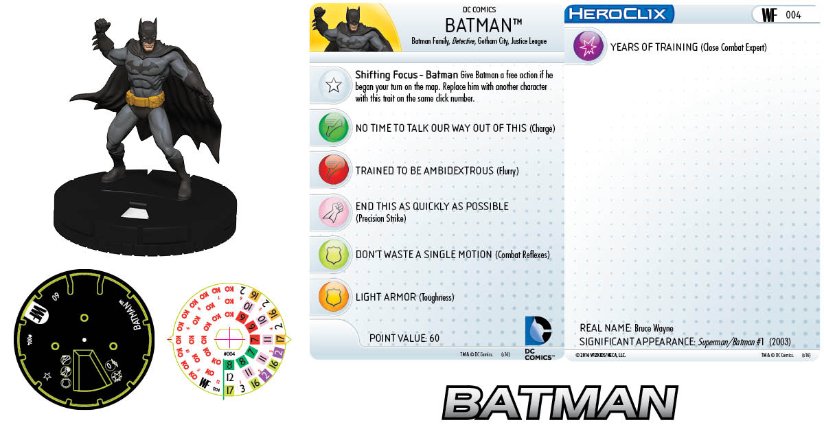 DC HeroClix: World's Finest- Batman 004 Clix It Up