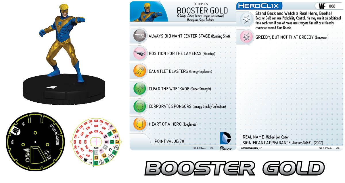 DC HeroClix: World's Finest - Booster Gold