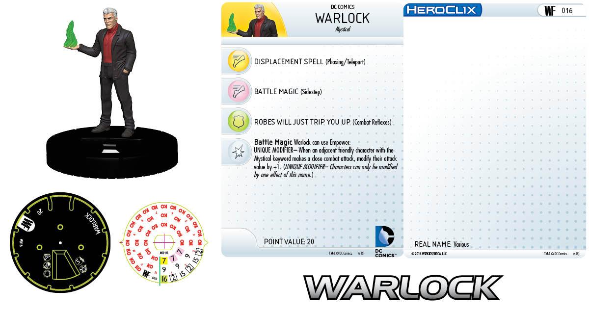 DC HeroClix: World's Finest- Warlock