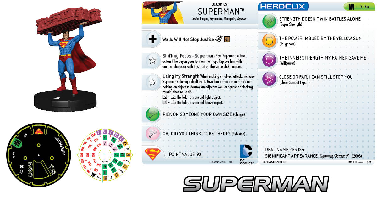 DC HeroClix: World's Finest - Clix It Up Superman 017a