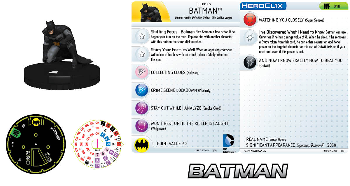 DC HeroClix: World's Finest- Batman 018 Clix It Up