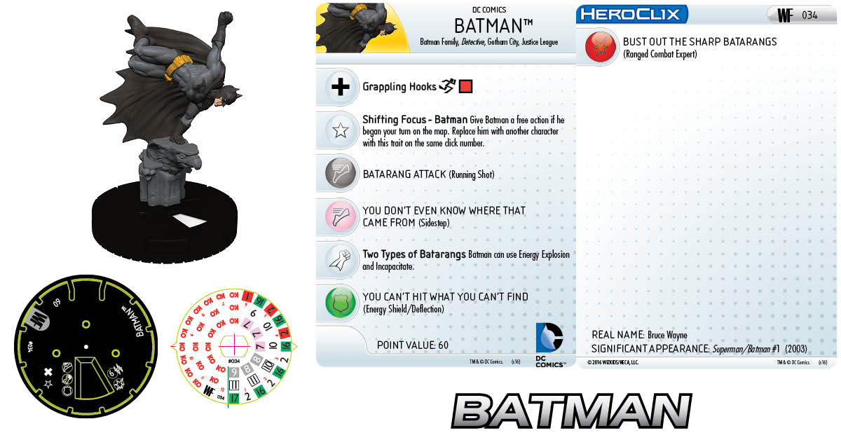 DC HeroClix: World's Finest- Batman 034 Clix It Up