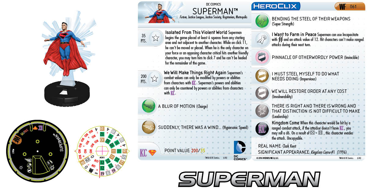 DC Comics HeroClix: World's Finest - Superman 061 Kingdom Come