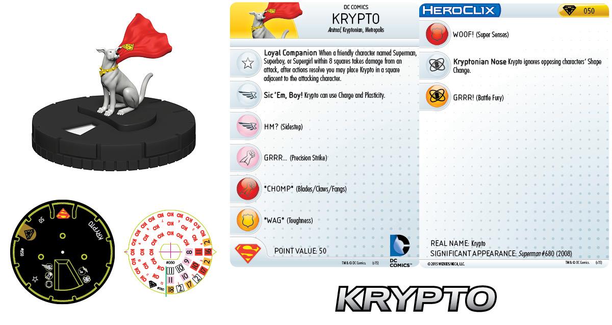 DC Comics HeroClix- Supergirl & Her Super Pets - Krypto