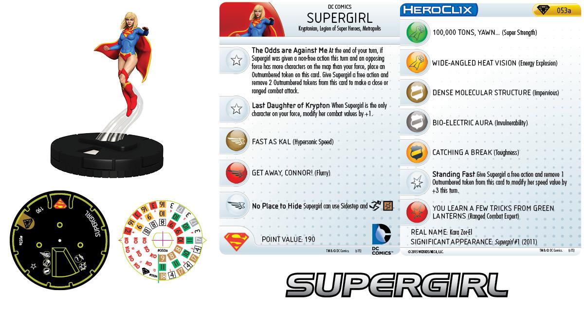 DC Comics HeroClix- Supergirl & Her Super Pets - Supergirl
