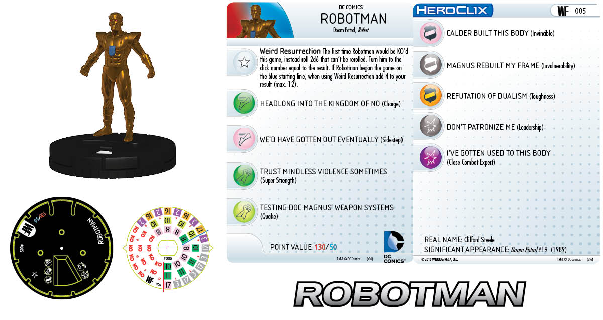 DC Comics HeroClix: World's Finest - Doom Patrol Robotman