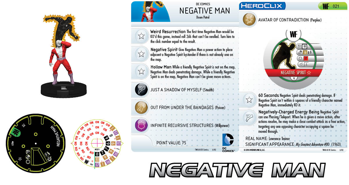 DC Comics HeroClix: World's Finest - Doom Patrol Negative Man