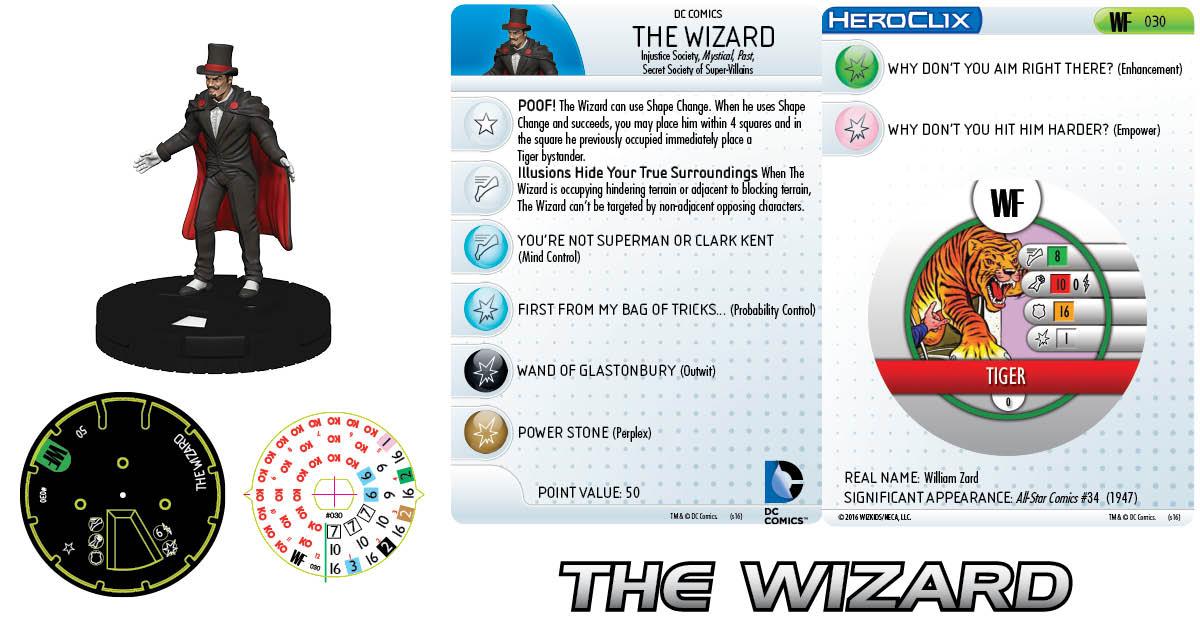 DC HeroClix: World's Finest- Secret Society- The Wizard