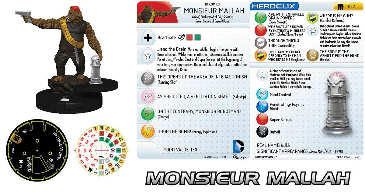 DC HeroClix: World's Finest- Secret Society- Monsieur Mallah