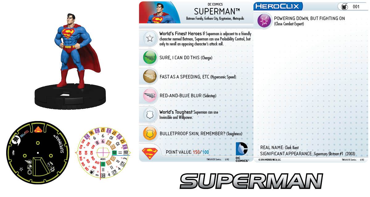 DC Comics HeroClix: World's Finest Fast Forces Pack Superman