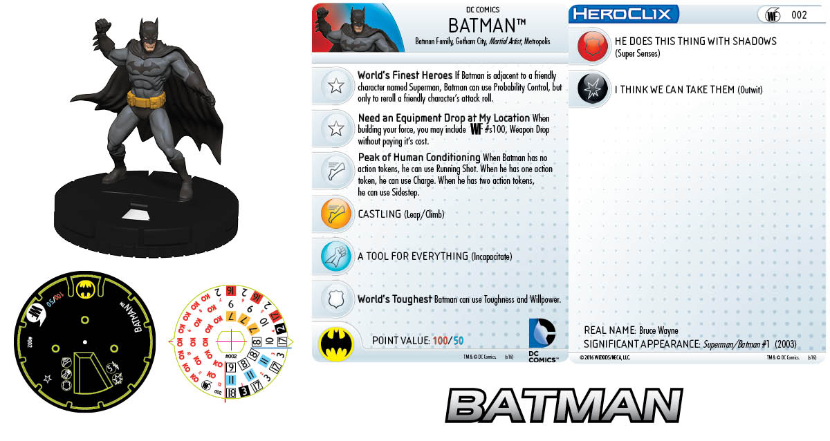 DC Comics HeroClix: World's Finest Fast Forces Pack Batman