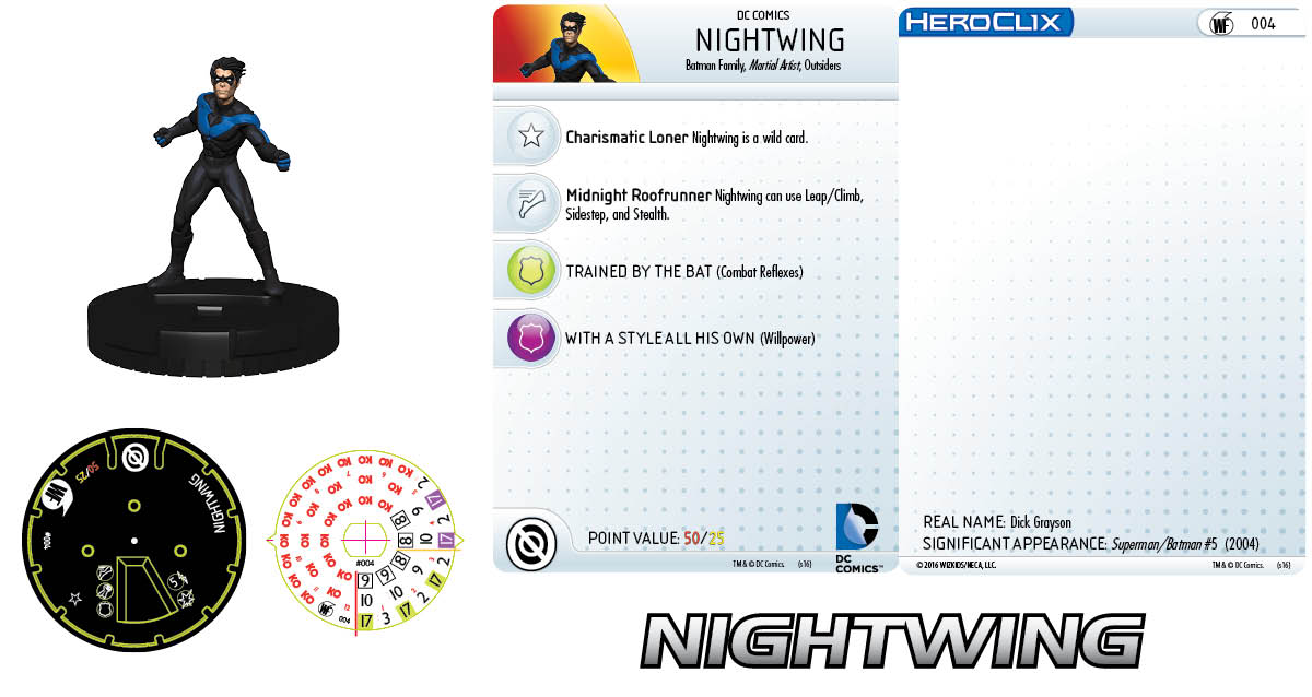 DC Comics HeroClix: World's Finest Fast Forces Pack Nightwing