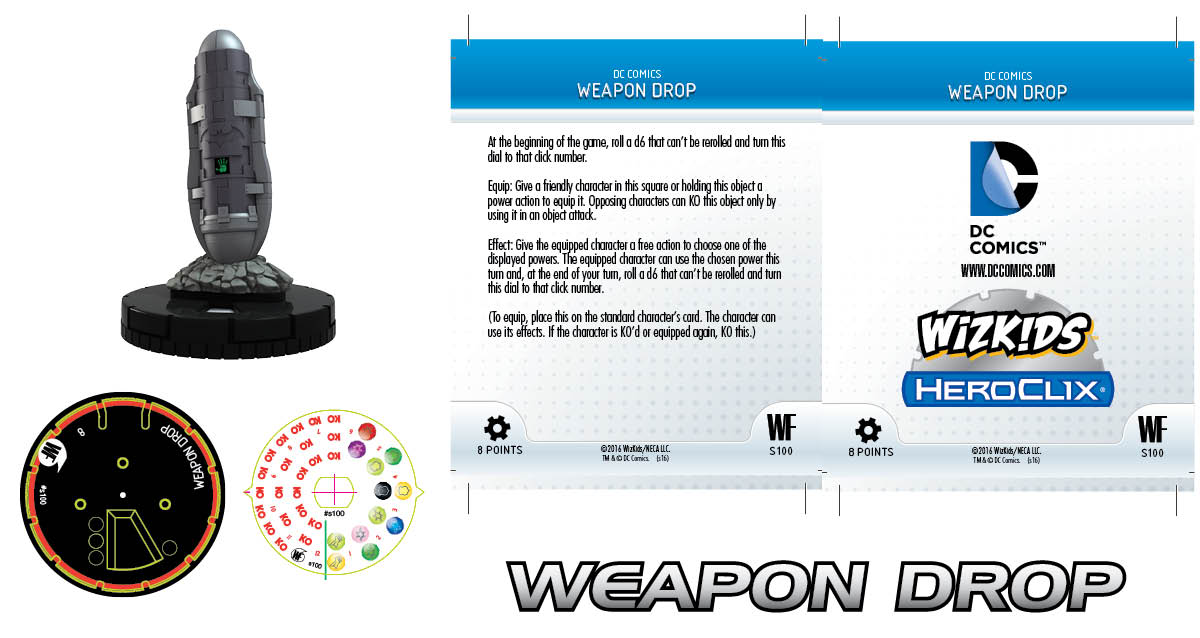DC Comics HeroClix: World's Finest Fast Forces Pack Weapon Drop