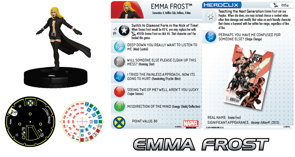 Marvel HeroClix: The Uncanny X-Men - Emma Frost 005a