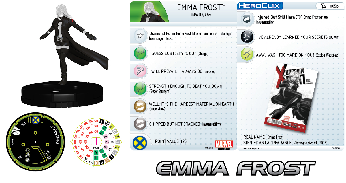 Marvel HeroClix: The Uncanny X-Men - Emma Frost 005b