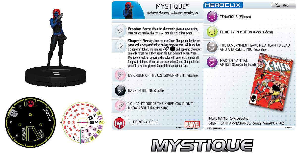 Marvel HeroClix: Uncanny X-Men- Mystique