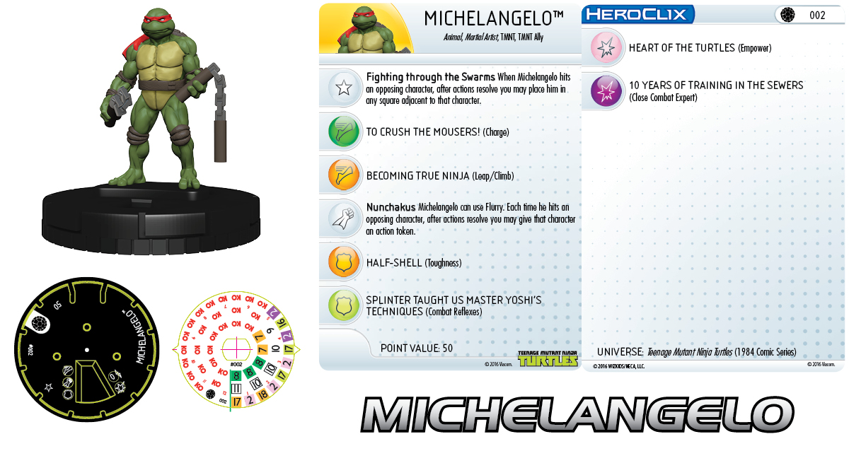 Teenage Mutant Ninja Turtles HeroClix: Michelangelo 002