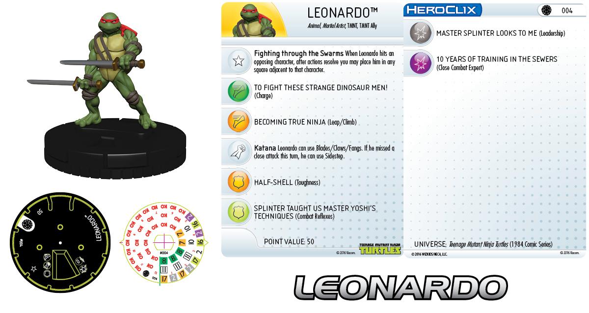Teenage Mutant Ninja Turtles  HeroClix: Leonardo