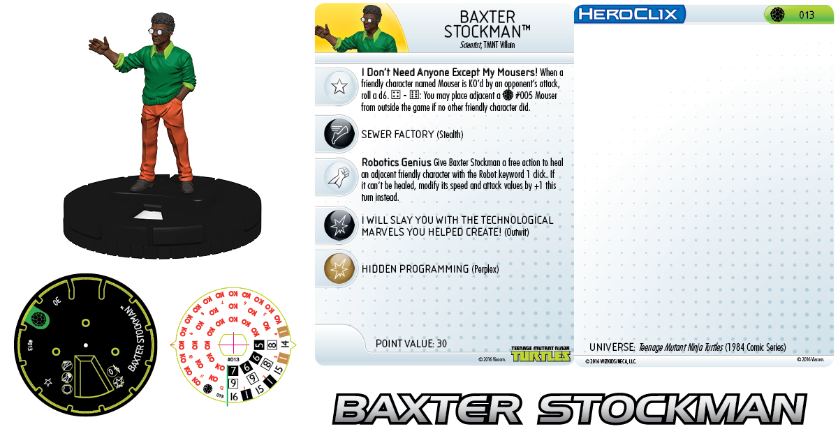 Teenage Mutant Ninja Turtles HeroClix: Baxter Stockman