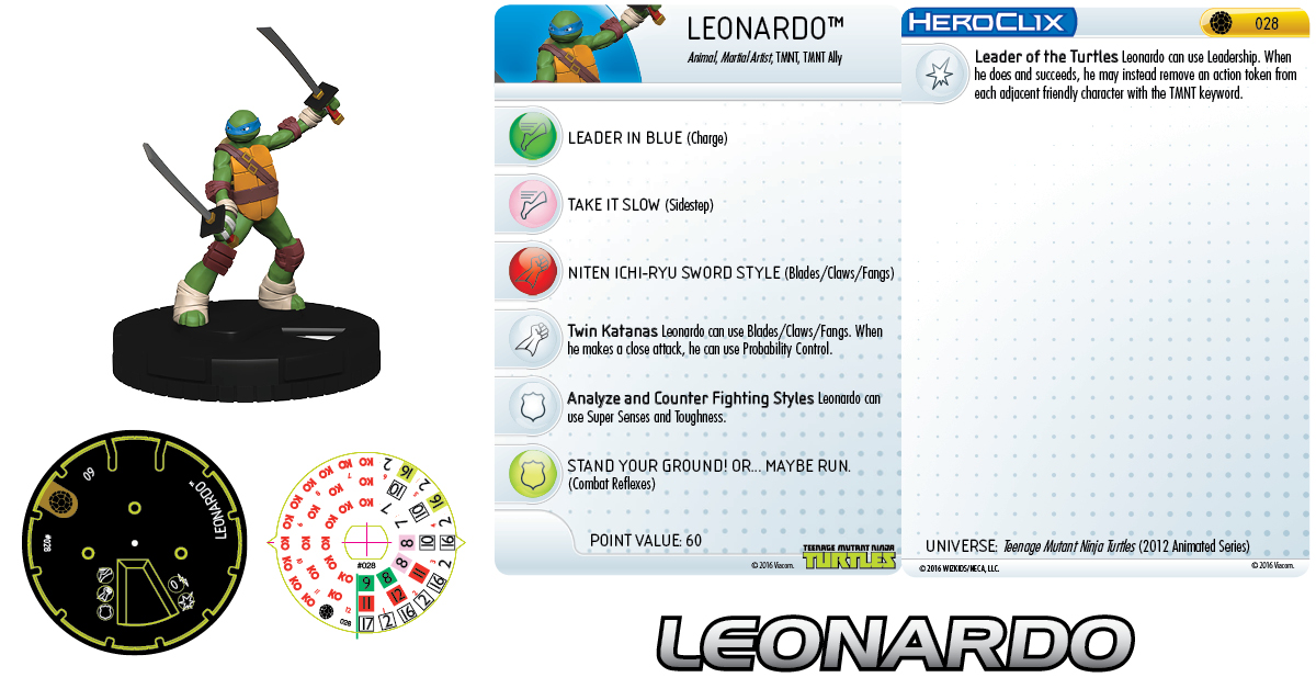 Teenage Mutant Ninja Turtles HeroClix: Leonardo