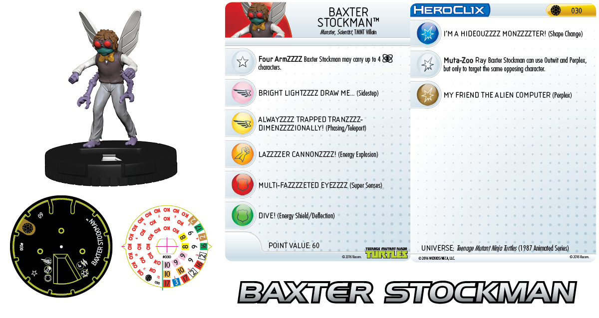 Teenage Mutant Ninja Turtles HeroClix: Baxter Stockman