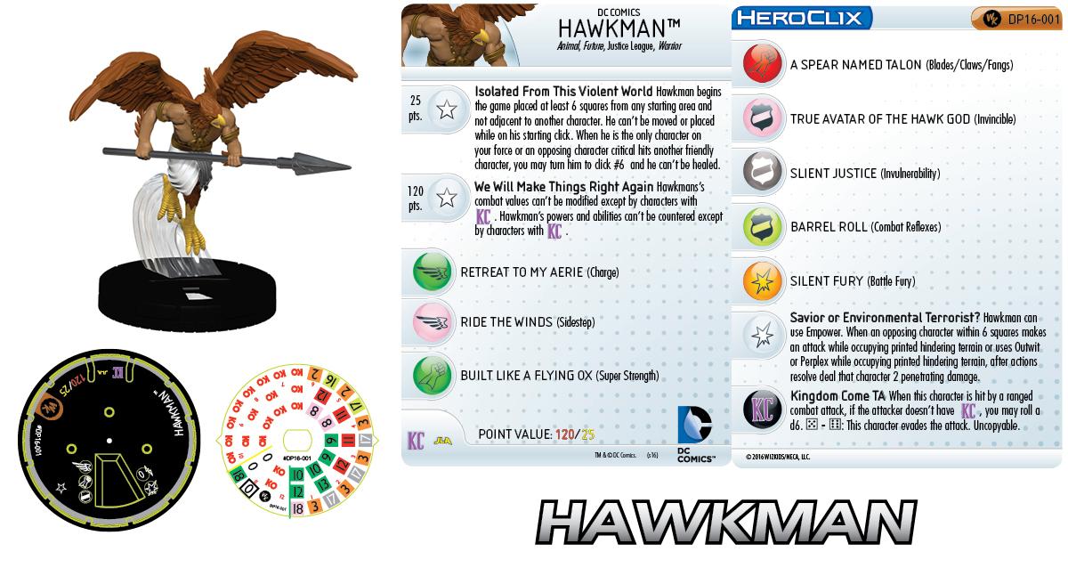 DC Comics HeroClix: 2016 Convention Exclusives Prize- Hawkman
