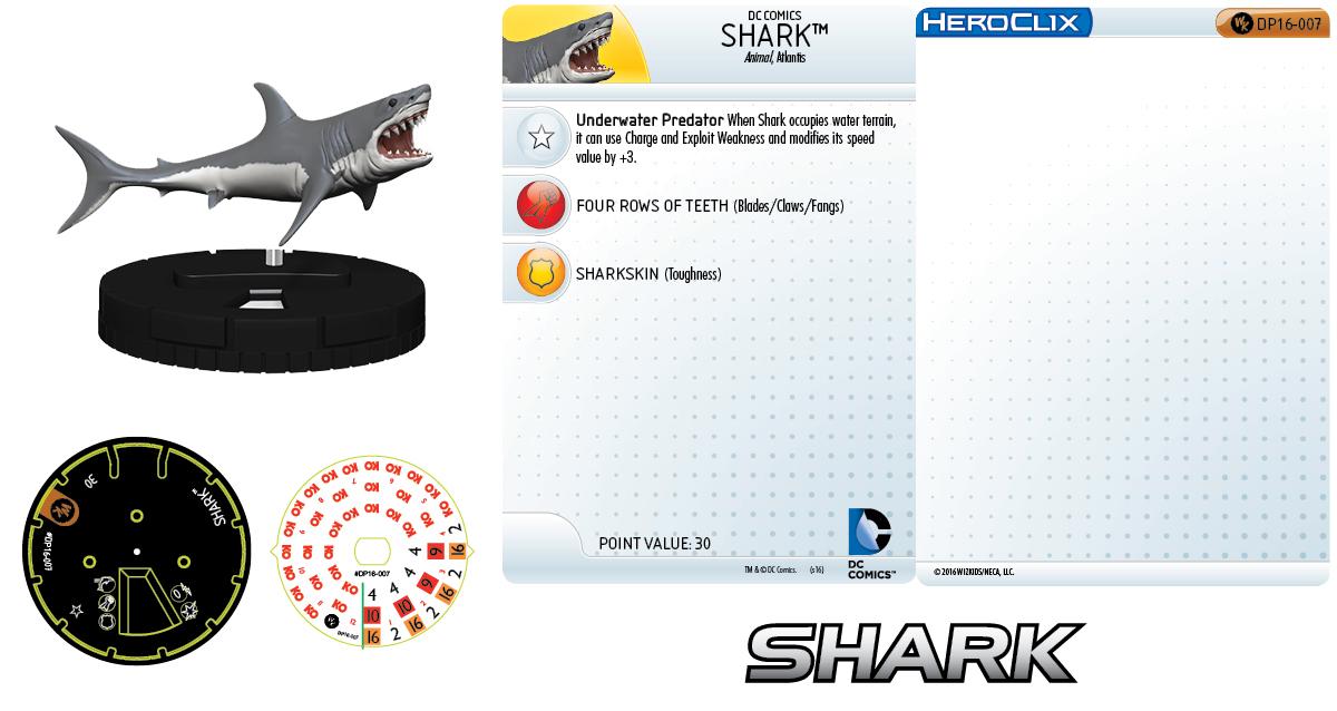 DC Comics HeroClix: 2016 Convention Exclusives - Shark
